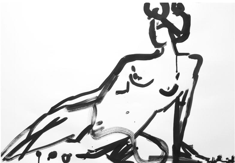 Reclined Nude by Sally King Benedict