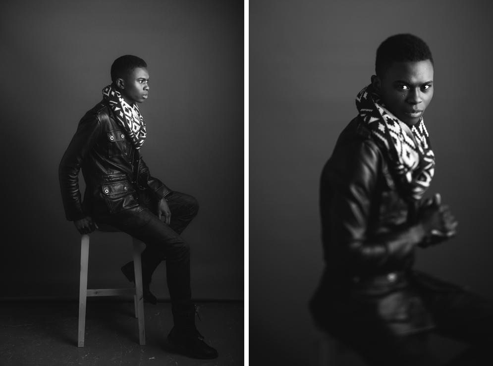 Dublin Portrait Photography - A studio test shoot with male model Ricky Mangala