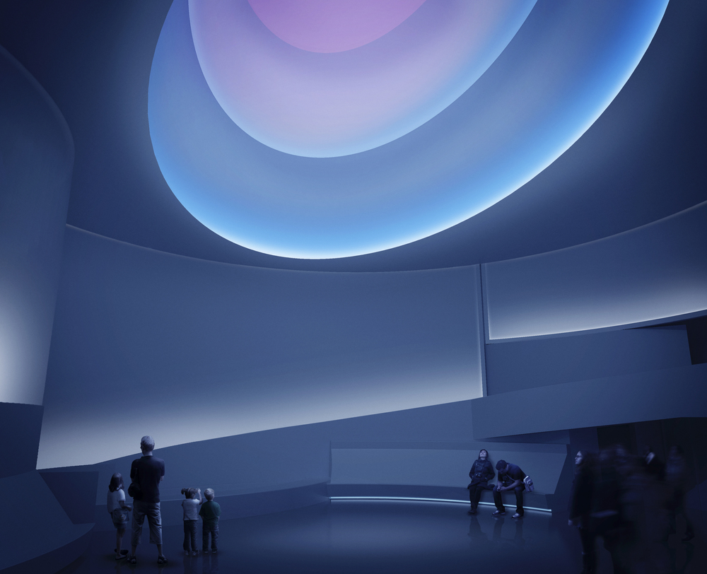 Rendering for Aten Reign, 2013 Daylight and LED light Site-specific installation, Solomon R. Guggenheim Museum, New York © James Turrell Rendering: Andreas Tjeldflaat, 2012 © SRGF