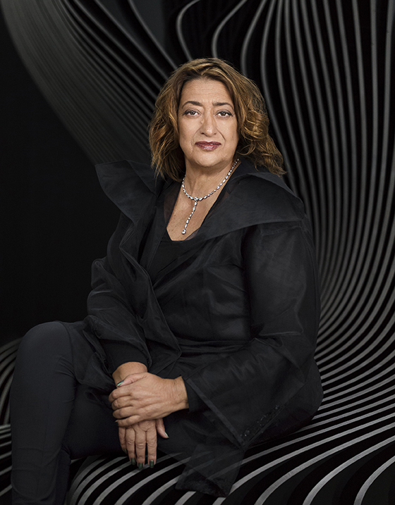 Zaha Hadid                                                                                          photo: Mary Mccartney