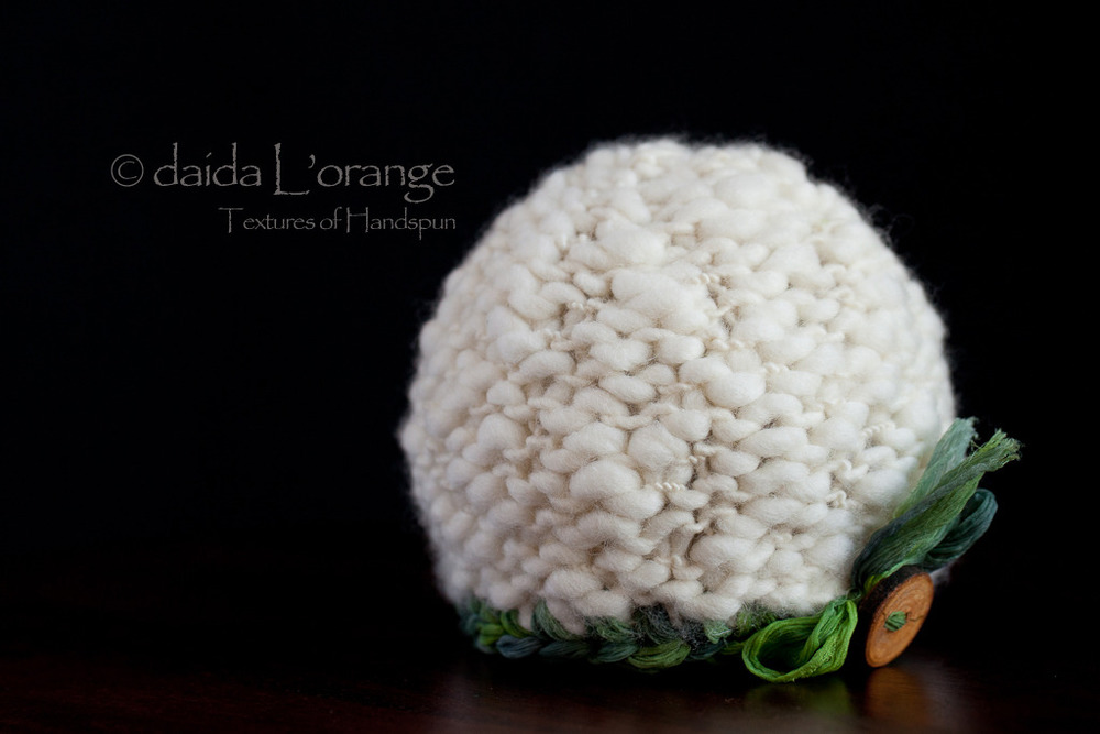 OOAK Newborn Luxe Textured Beanie Hat - Snowy Emerald Forest - Winter Collection