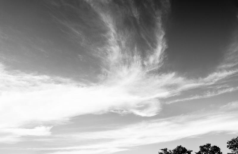 black white clouds