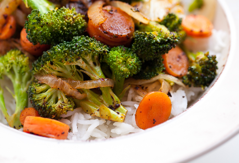 rice broccoli carrots