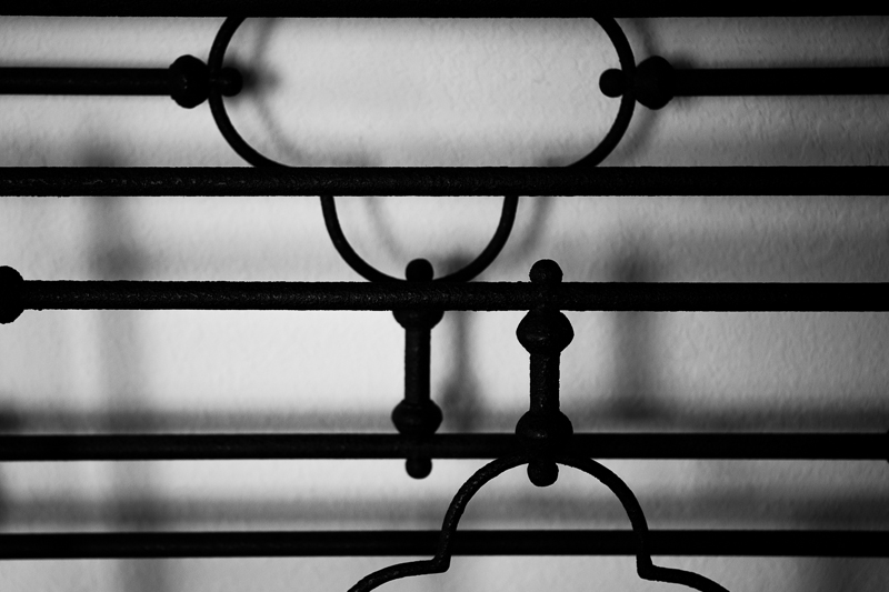 iron bed bw