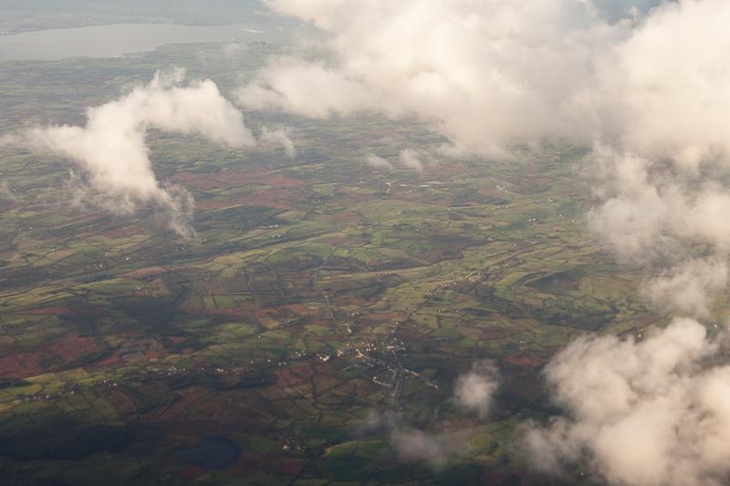 ireland from plane