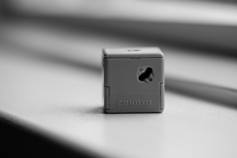 grey cube 3d