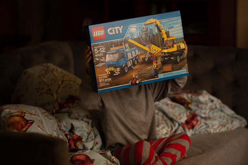 excavator and truck lego set