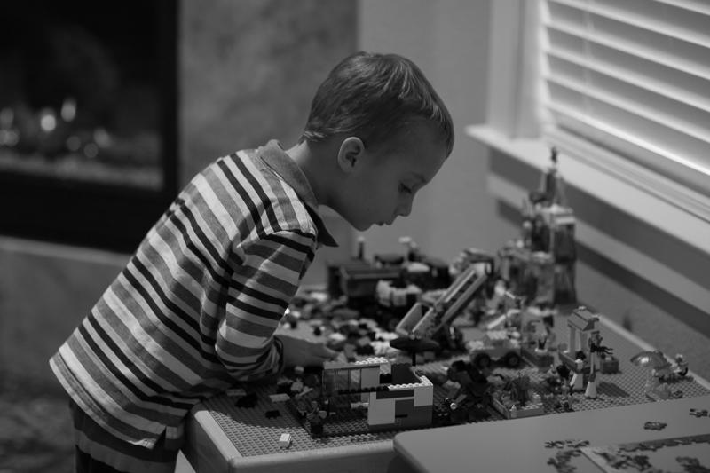 sage with lego bricks