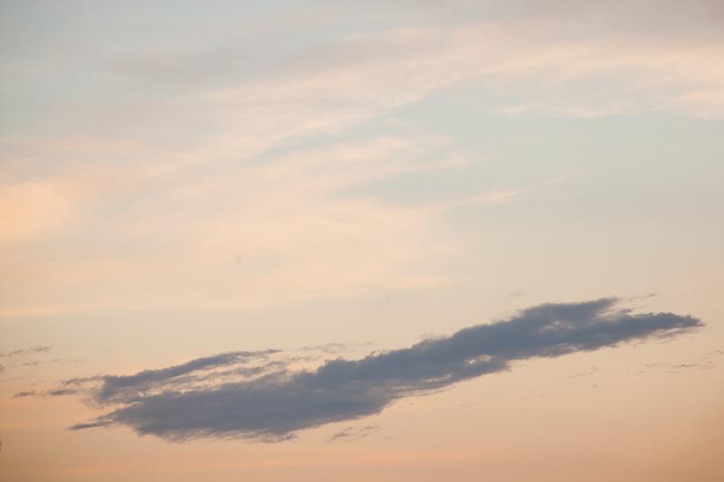 long grey cloud