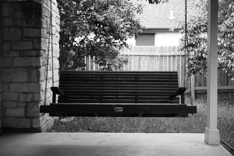 porch swing bw