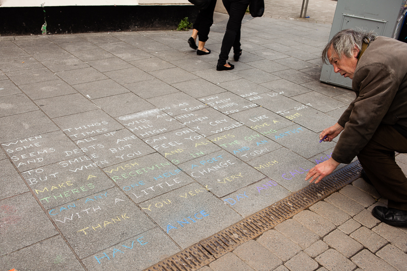 chalk artist words