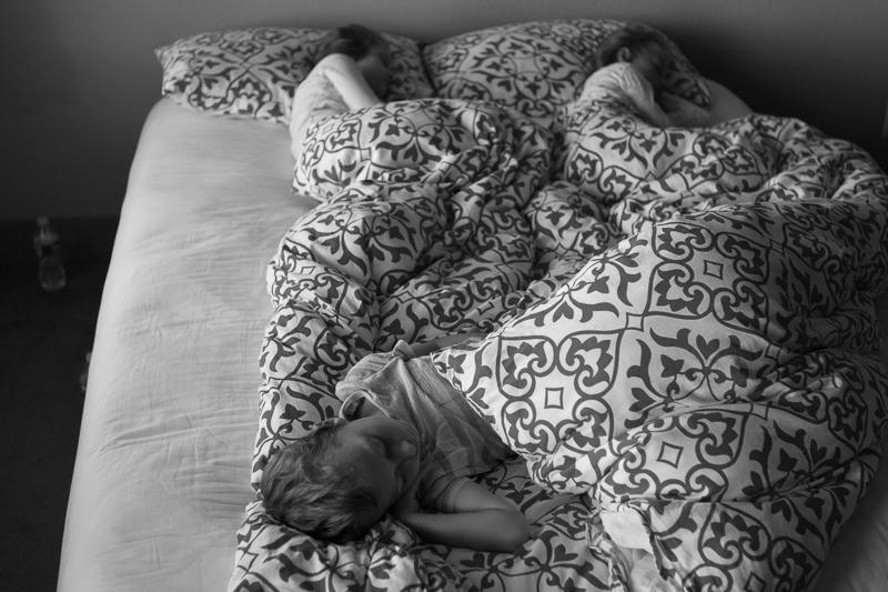 three sleeping