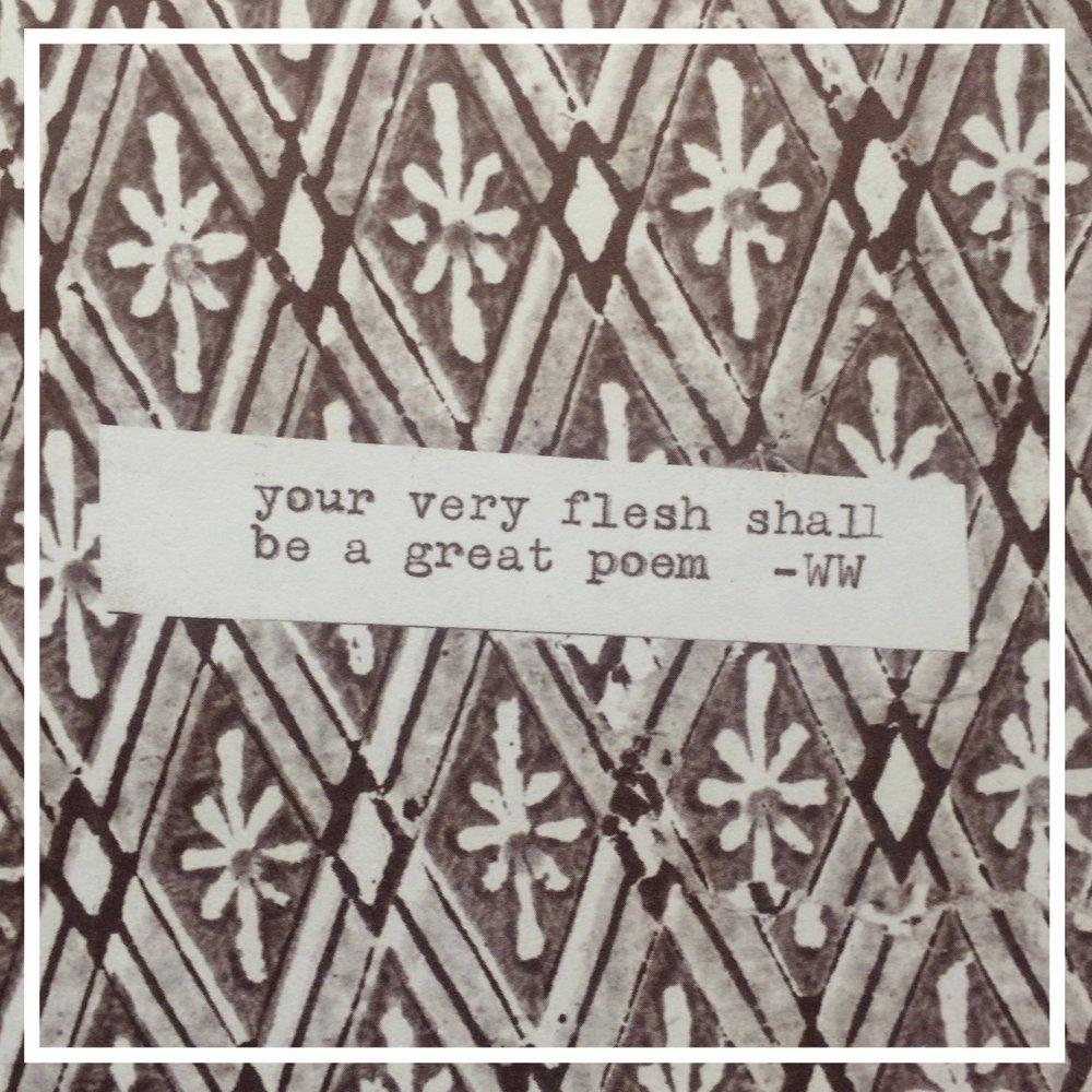 Flesh shall be a poem
