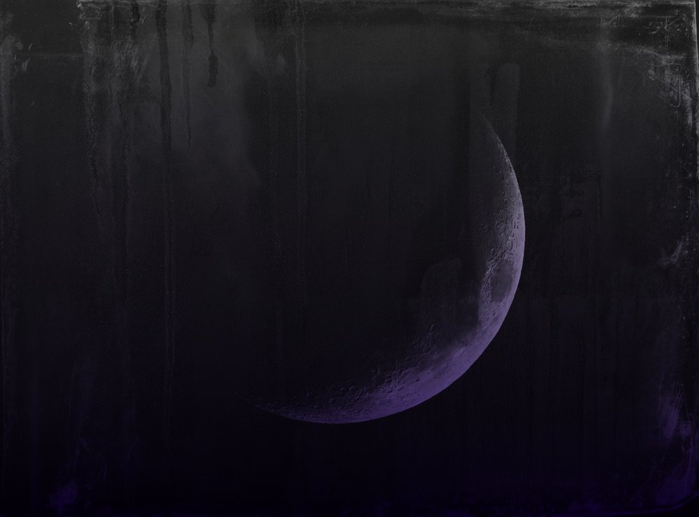The New Moon is the Artist's Moon by Hillary Rain