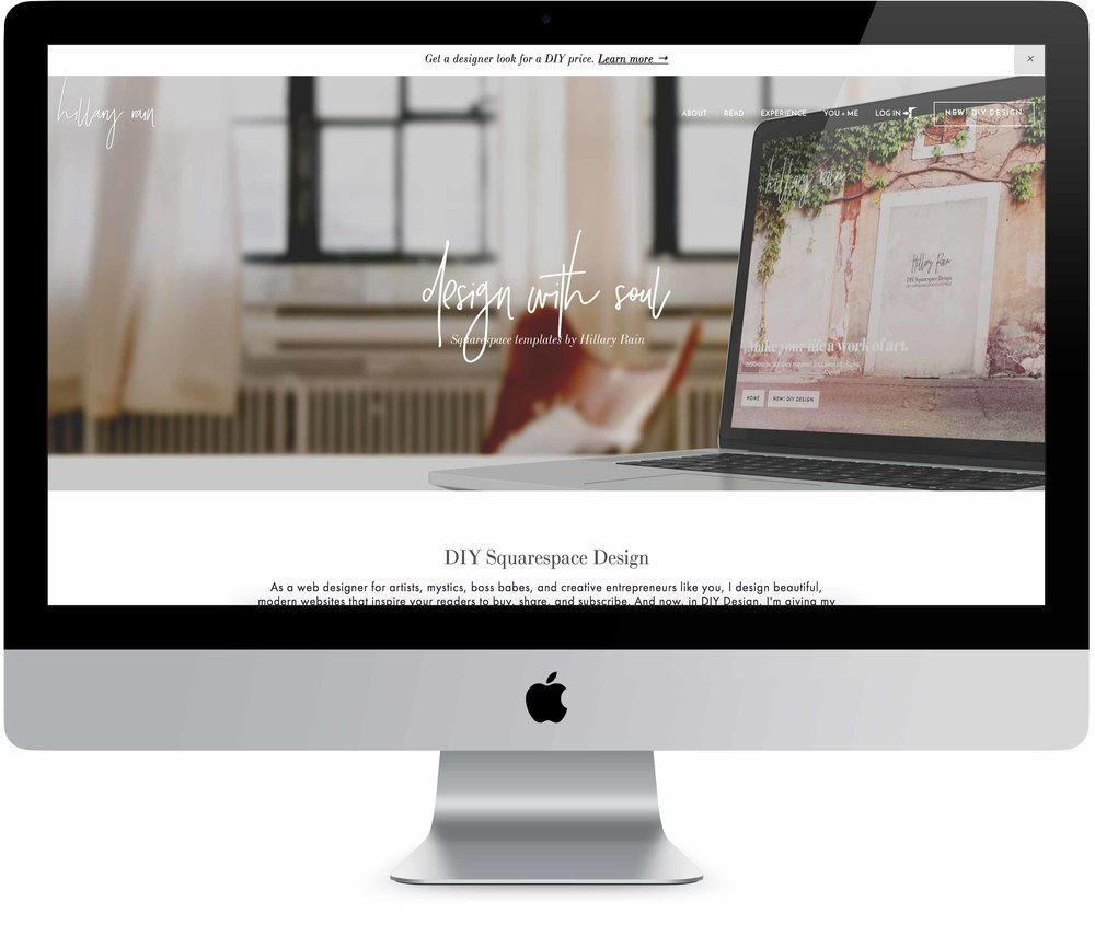 Beautiful Squarespace Template by Hillary Rain