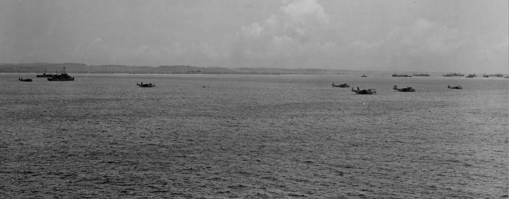 Long gone are seaplane bases like these which were scattered through the Pacific to get to downed airmen faster. Credit: Lost in the Pacific/National Archives.