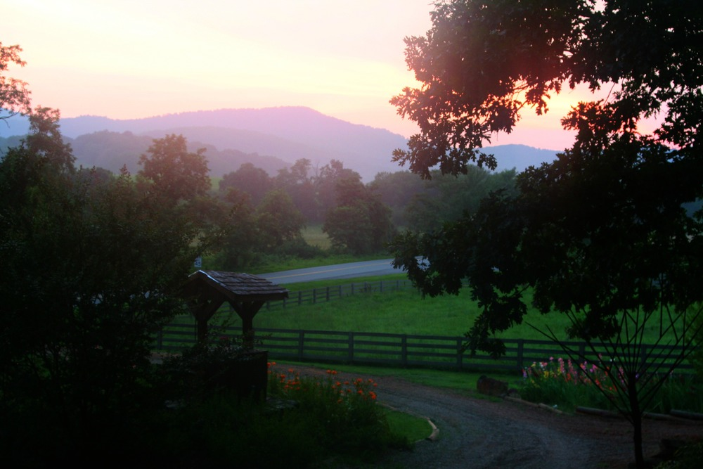 Sunset view from cottage