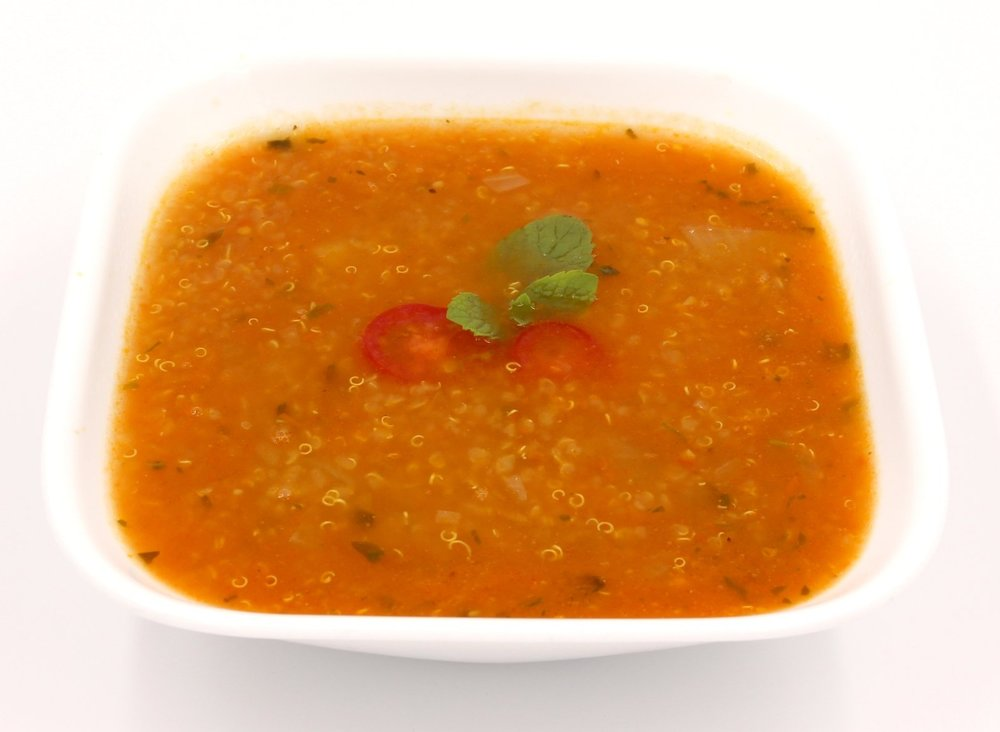 QUINOA TOMATO BASIL SOUP Warm and Comforting