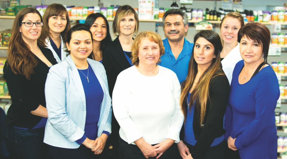Left to right (top row): Joanne Fearns , Dr. Shirley Heinen (Naturopath), Tanya Martin (Osteopathic Manual Practitioner), Janet Esser, Frank Yazdani (Owner and Live Blood Microscopist), Katie Fleischer Left to right (bottom row): Manjiri Nadkarni (Nutritionist and Doctor of Ayurvedic Medicine), Sharon Leyes (Reflexologist), Chloe Yazdani, Colleen O'Grady