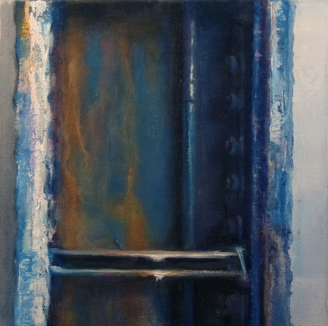 Blue I, Oil on Canvas, 12x12 inches