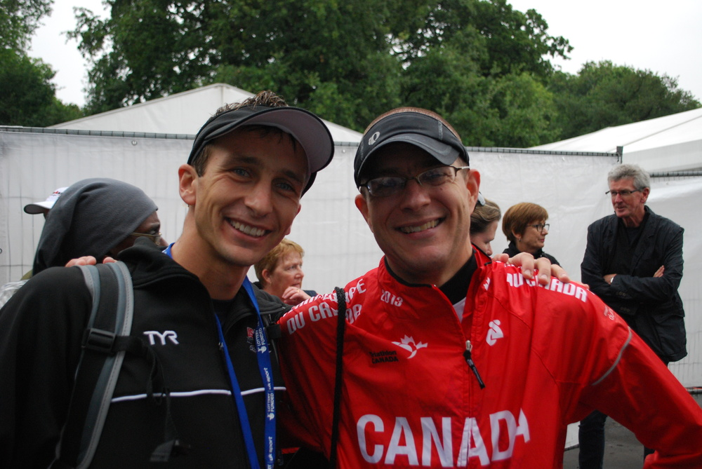 Fellow blind athlete from Canada Ryan Van Pret.  Ryan is an awesome athlete and awesome person.