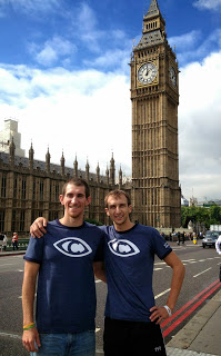 Colin & I managed to make it out for a few hours to tour on Thursday.  Rock'in CDWA apparel in front of Big Ben :)