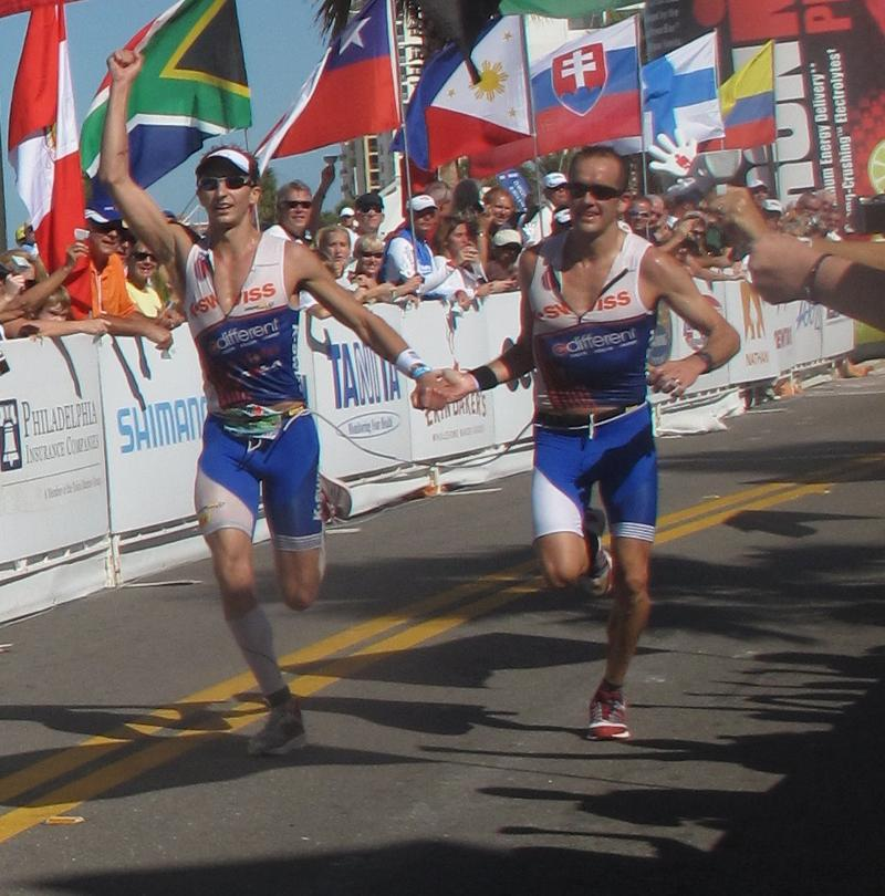 In one of my greatest all around performances ever at the Ironman 70.3 World Championships in Clearwater, FL guide Todd Wiley and I crossed the line in a time of 4:09:54.  This was the fastest time ever by any paratriathlete at the Half Ironman distance.