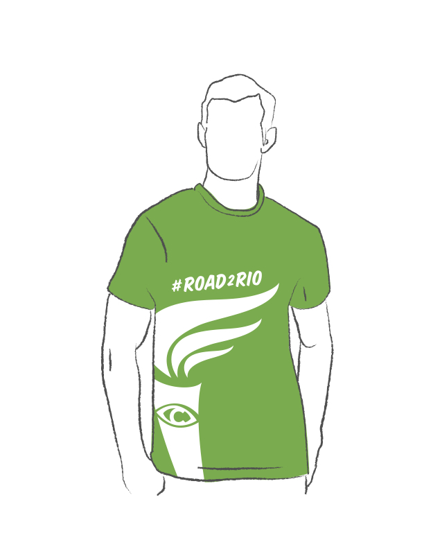 Get a #Road2Rio Fundraiser Shirt!