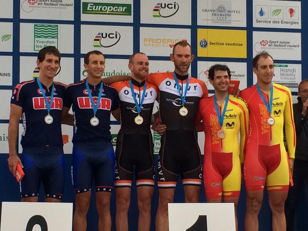A Silver medal at World Cup #2 in the Time Trial for Colin Riley and I.