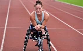 Wheelchair racer Tatyana McFaddeen