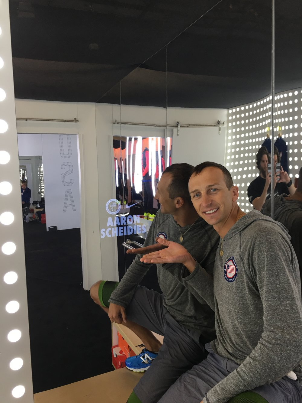 Nike provided our own personal dressing room and one on one apparel fitter so we could make sure we were looking in style over in Brazil.