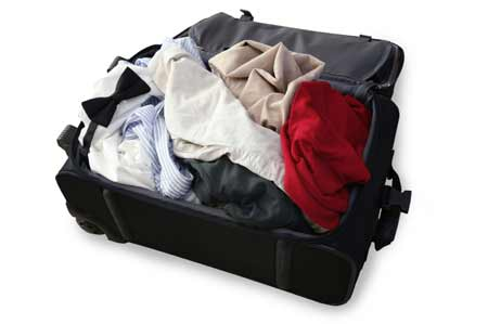 How long do you leave your suitcases packed after a trip? Five minutes? Until the weekend? Until the next trip?