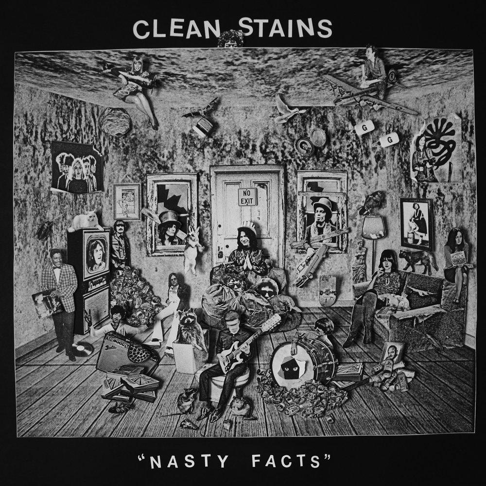 "Clean Stains - ""Nasty Facts"" LP cover collage"
