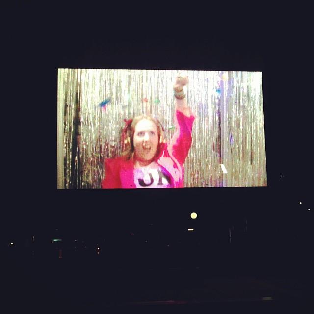 On the big screen!