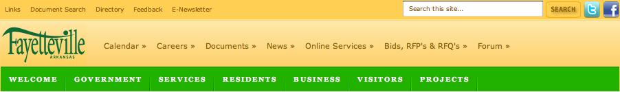 Header on accessfayetteville.org