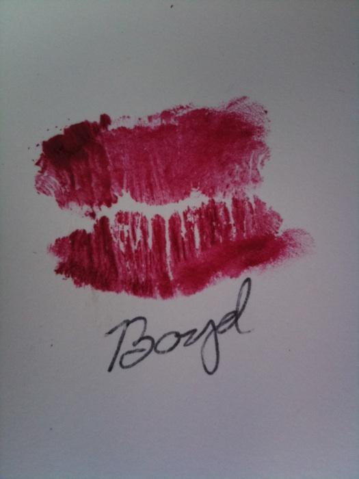 Boyd Logans kiss