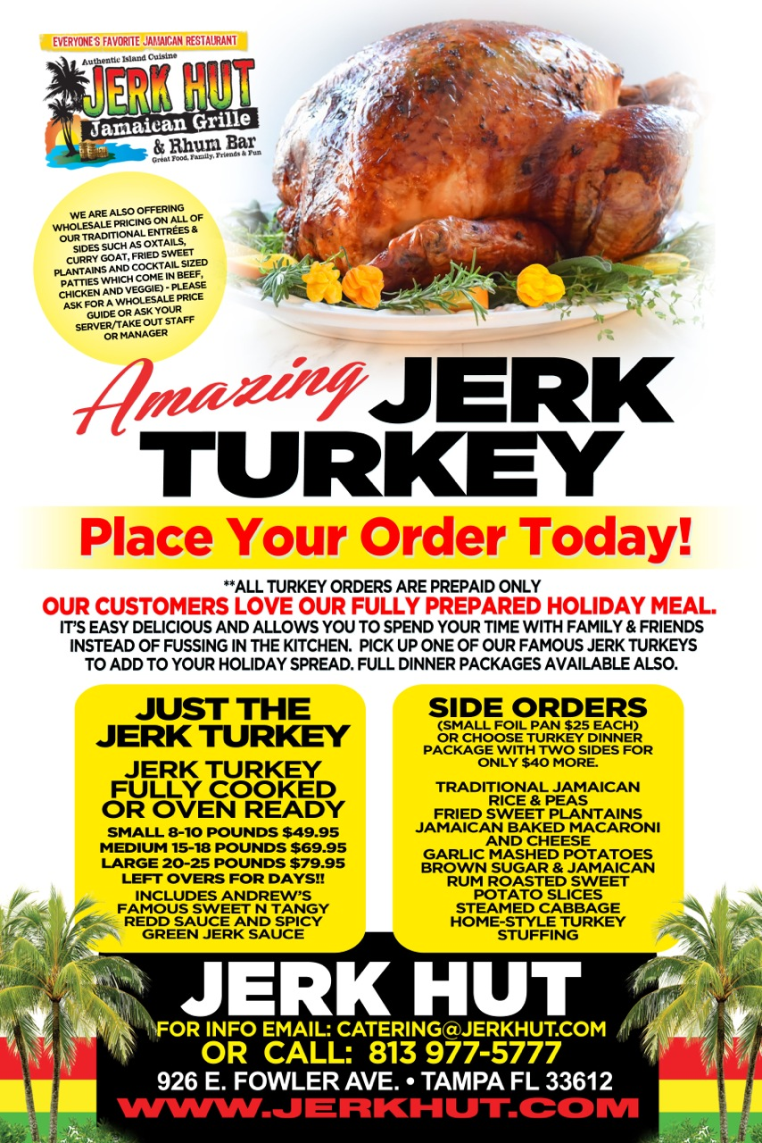 Order your Jerk Turkeys Now!