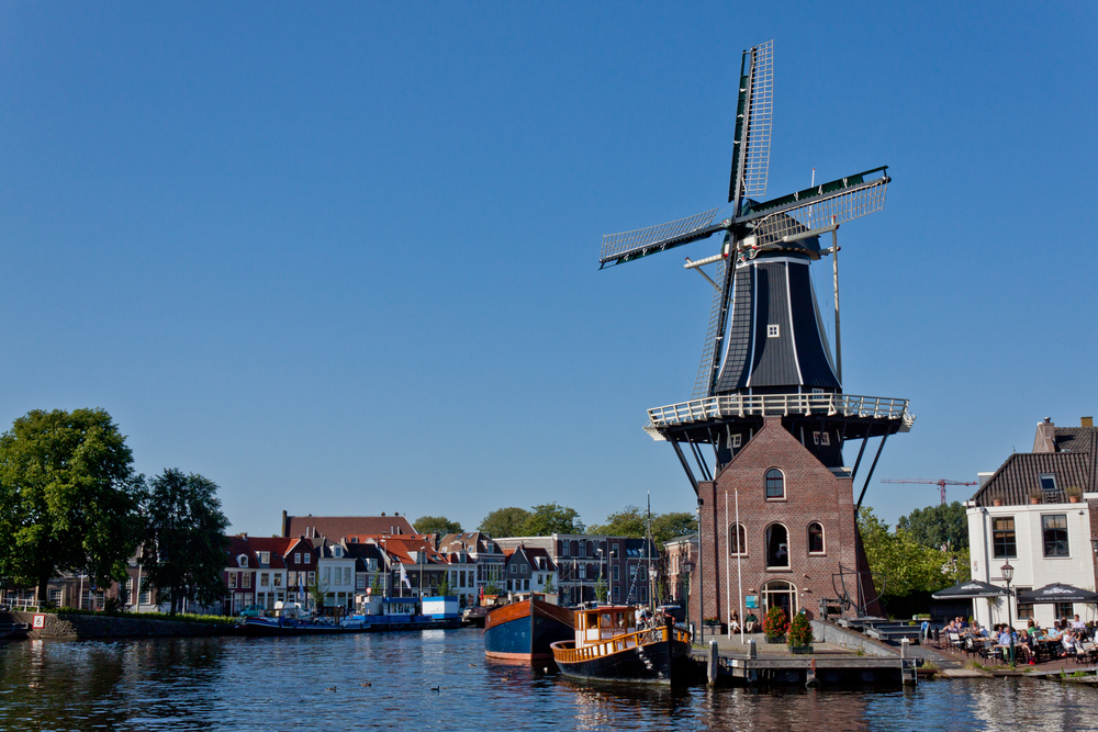 A beautiful windmill in Haarlem, Netherland