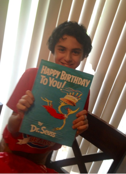 This boy loves his Dr. Suess