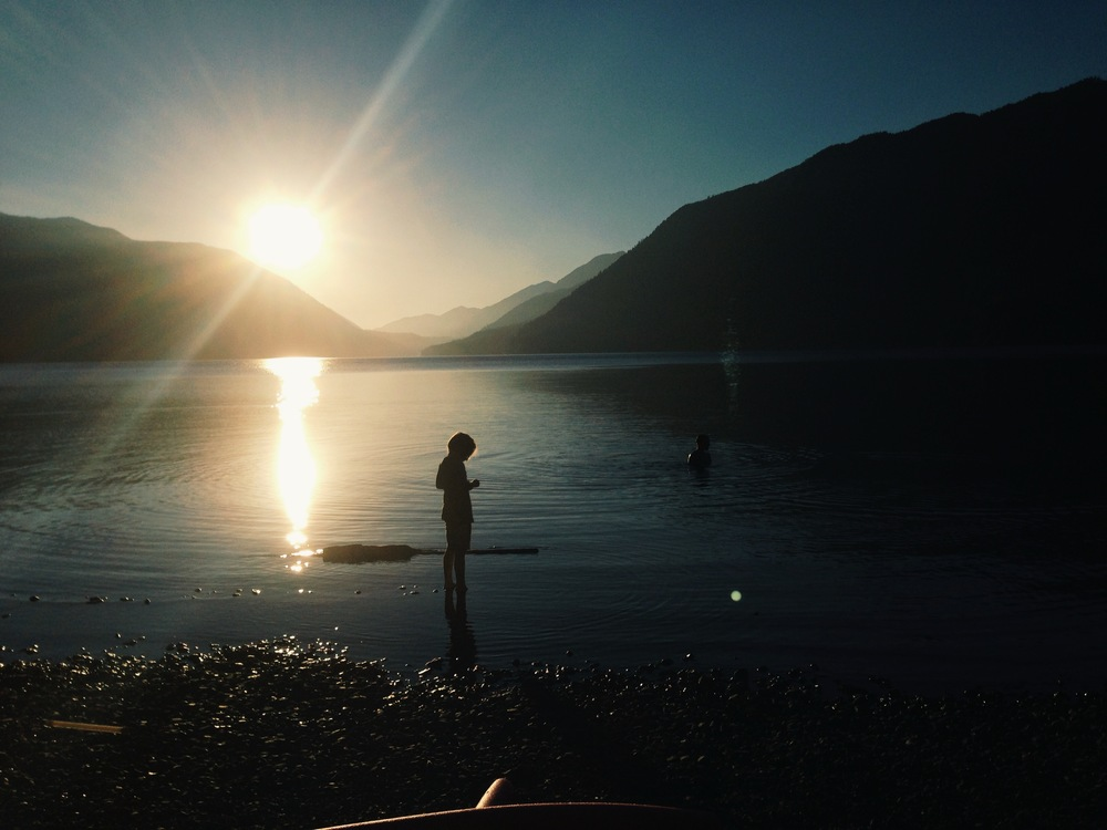 End of day :: Lake Crescent, WA