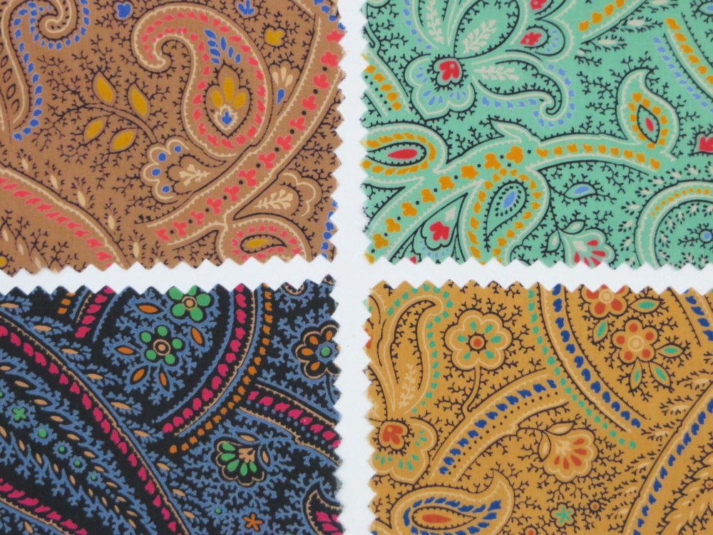 A set of 4 brilliant paisley prints, available  here