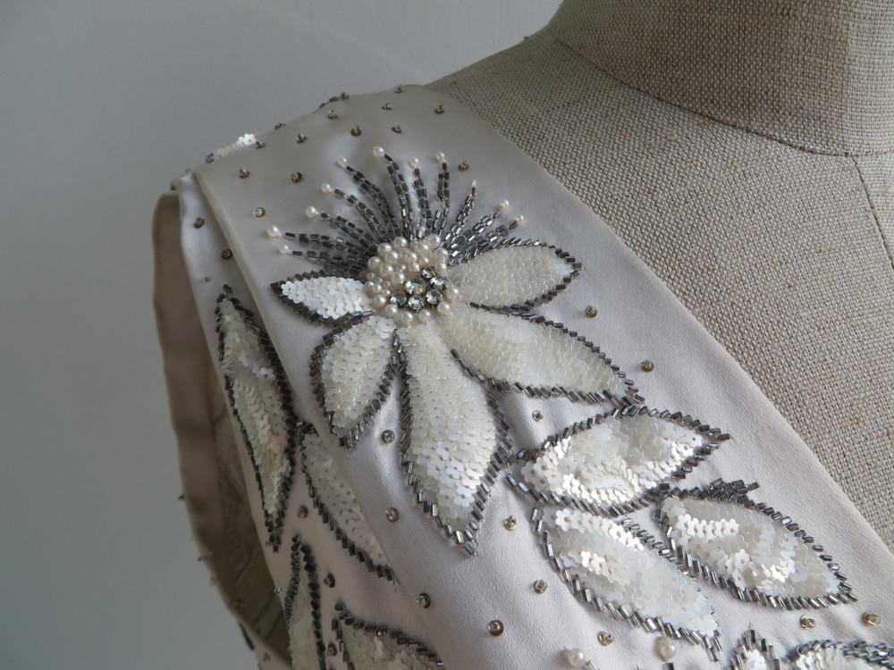 1955 Christian Dior beading details
