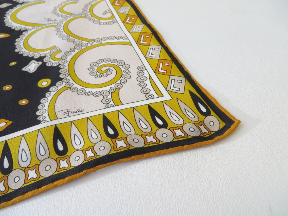 Silk designer scarf by Emilio Pucci