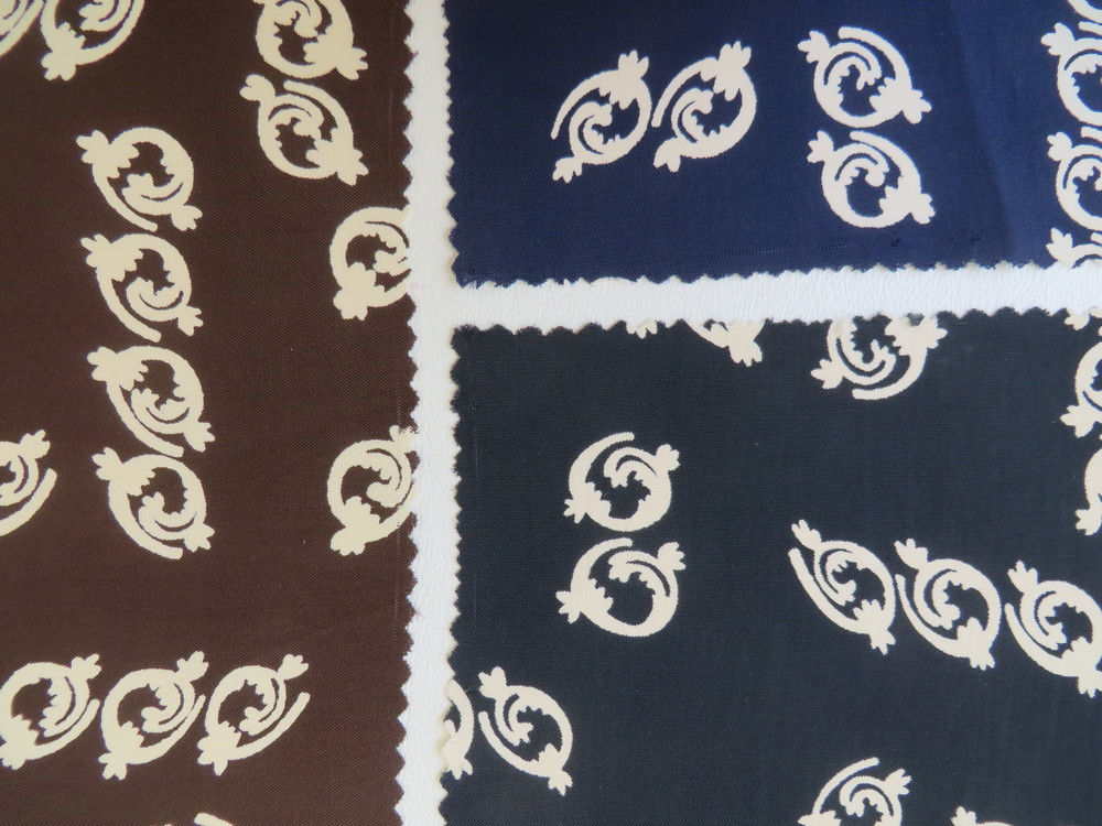 Silk fabric samples - c. 1930's - 1940's