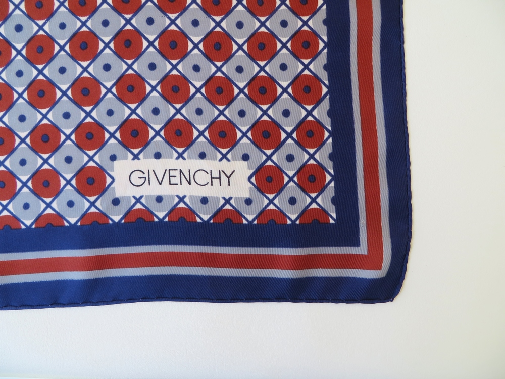 Silk scarf by Givenchy - c. 1970's