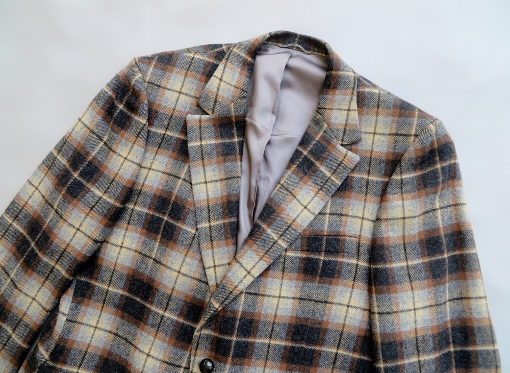 Men's 1960's-1970's plaid wool sport coat