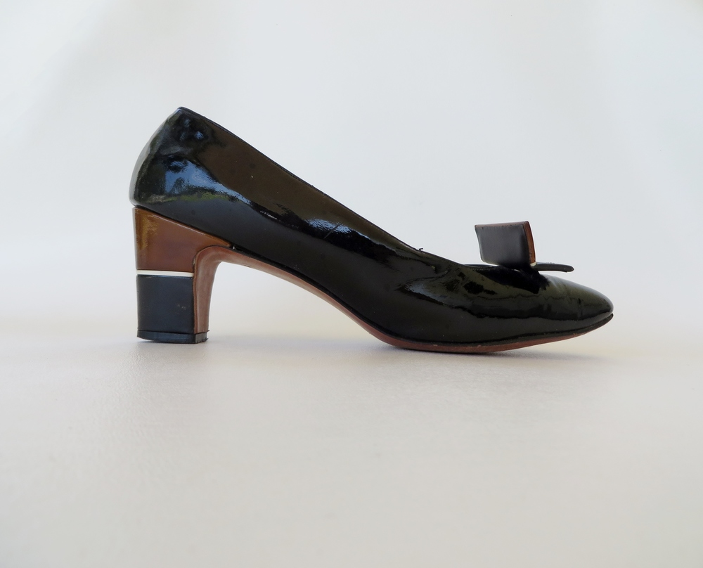 1960's mod patent leather shoes