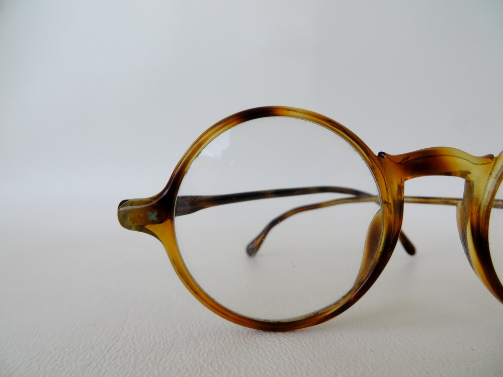 1910's - 1920's Antique Faux Tortoise Shell Lloyd Style Glasses