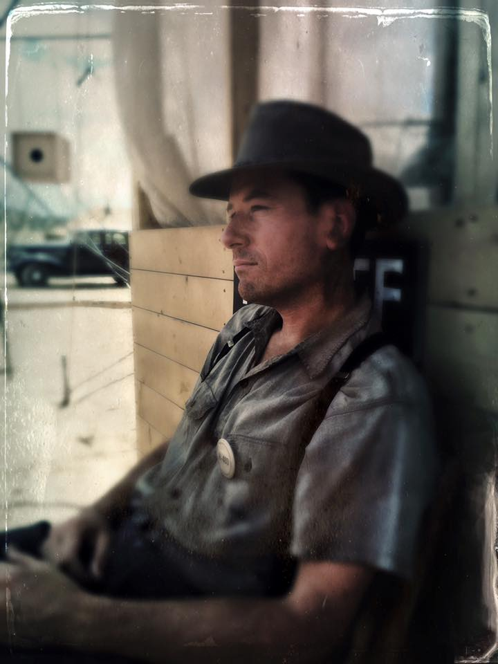 Taken on set of Manhattan Season 2  out in the desert not far from Santa Fe. I'm playing a scientist here.