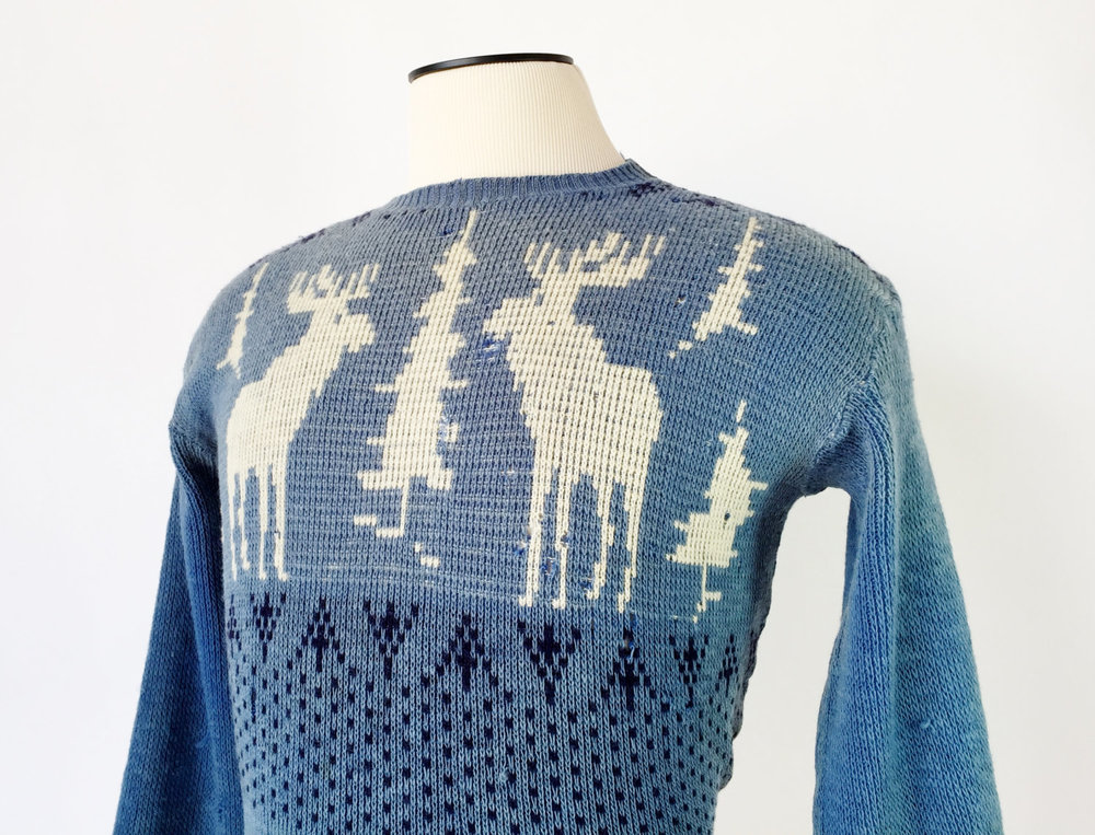 Men's 1940's Novelty Ski Sweater